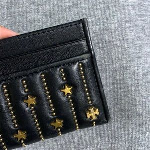 Tory Burch Accessories - Tory Burch Fleming Star Stud Card case